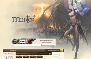 Дизайн MMOTOP.ru / LA2.MMOTOP.ru