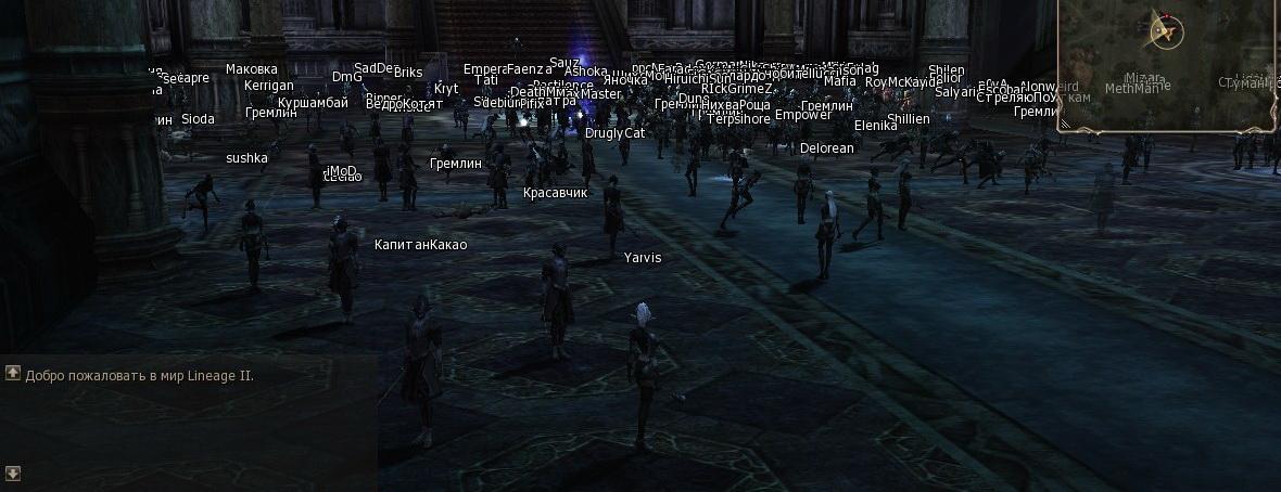 скриншот со старта на сервере Gran-Kain за темных эльфов