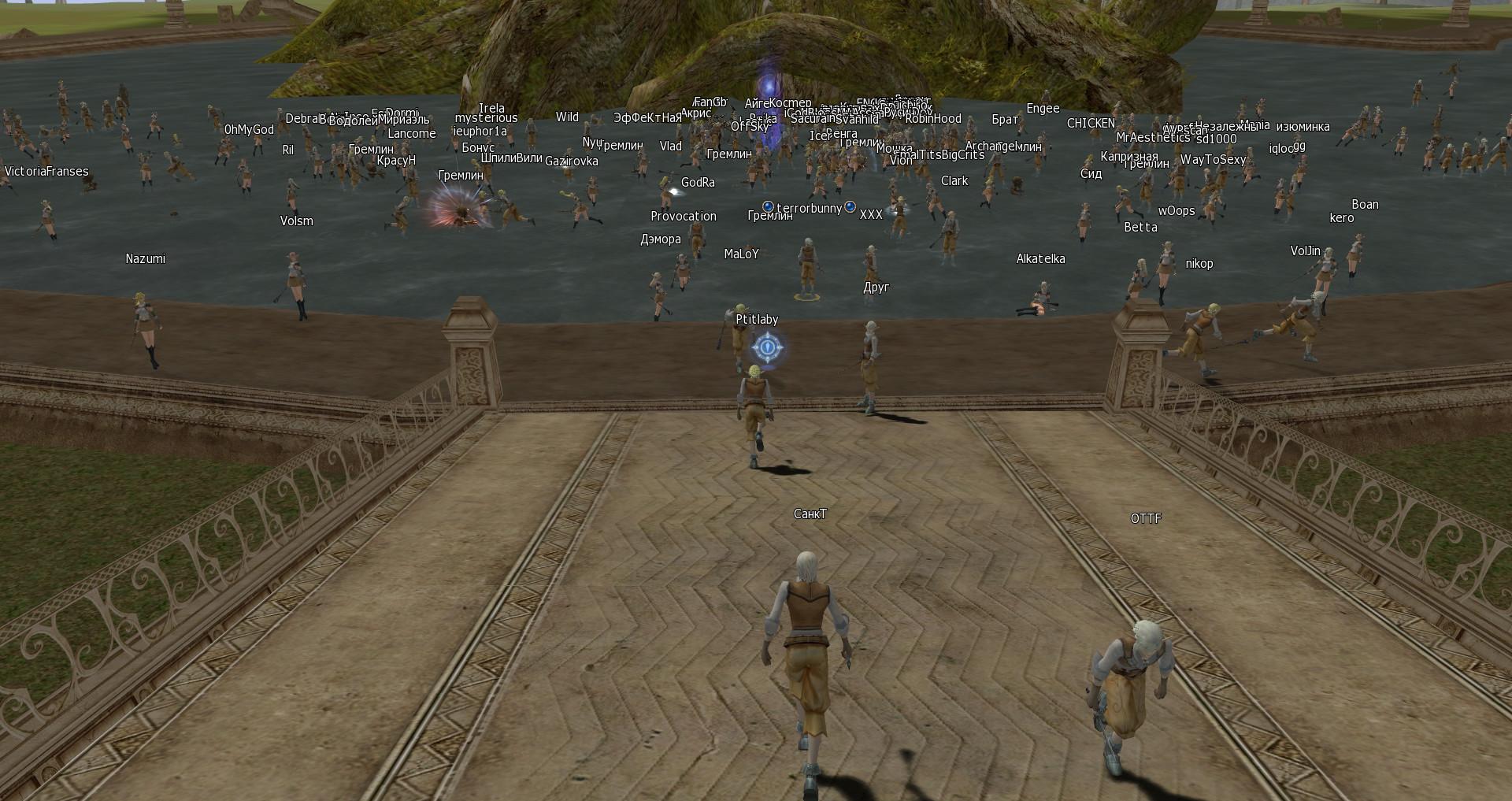 скриншот со старта сервера Gran Kain classic в деревне светлых эльфов