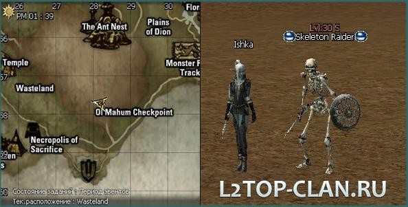 Wasteland нежить кач 30 уровень l2